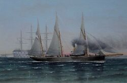 Charles Keith Miller 1836-1907 The Navy Glasgow 1888. Oil On Board.