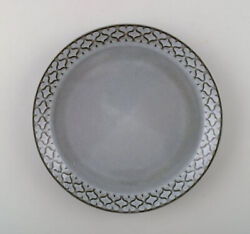 Bing And Grondahl Number 308. Set Of 18 Dinner Plates. Grey Cordial Quistgaard