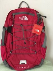 The North Face Women Classic Borealis Student Backpack School Bag ROSE RED