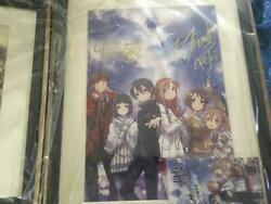 Sword Art Online Print Art Anime Japan Collectible Hand Signed By Sao Rare