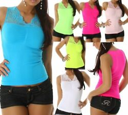 Sexy Ladies Stretch Shirt Trendy Lace Girly Top 34118 112ft  L 361284.9oz