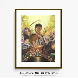 Street Fighter 30th Anniversary Poster Art Print Japan Game Collectible Rare F/s