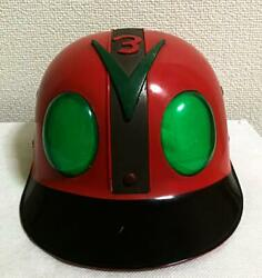 Kamen Rider Helmet Red Hat Cap Type V3 Vintage Collectible Toy Japan F/s Rare