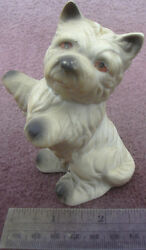 Dancing Westie Ceramic China West Highland White Terrier Dog Figurine