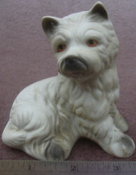 Sitting Westie Ceramic China West Highland White Terrier Dog Figurine