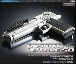 Academy 17216 Desert Eagle 50 Silver Edition Airsoft /6mm Hand Grips Toy