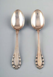 Georg Jensen Lily Of The Valley Silver Large Soup/dinner Spoon. 2 Pcs. In Stock.