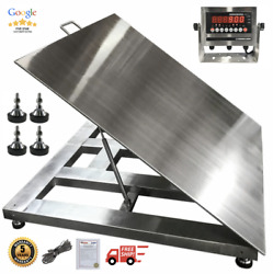 5and039x5and039 60x60 Stainless Steel Floor Scale And Indicator | Wash Down| 5000 Lb