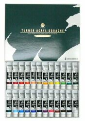 Brand New Turner ACRYL GOUACHE School Set AG24C (11ml Tube) 24 Colors