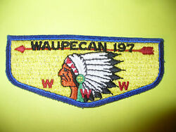 Oa Waupecan Lodge 197,s1c.1950s First Flap,ff,indian,rainbow Council,illinois,il