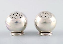 Franz Hingelberg. A Pair Of Modernistic Salt And Pepper Shakers