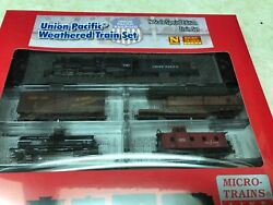 N Scale Micro Trains Weathered Union Pacific Train Set