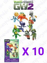 Knex Plants Vs Zombies Series 6 - Ten Blind Bag Mystery Buildable Figure - New