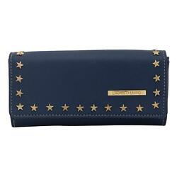 Buff Saddle Women Clutch (Blue) Multi-Functional Pocket Design
