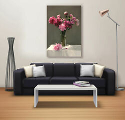 Flower Pot Canvas Painting Abstract Potrat Poster Wall Office Décor Decal