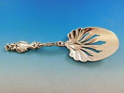 Lily By Whiting Sterling Silver Fried Egg Server Pierced 8 3/8 Vintage