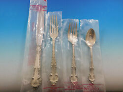 English Gadroon By Gorham Sterling Silver Flatware Set Service 24 Pcs Dinner New