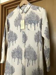 Yatra Women Button Down Shirt Dress One Size Unused W/ Tag From Japan