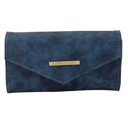 Riffle Teal Women Clutch (Blue) Multi-Functional Pocket Design