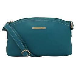 Light Women Sling Bag (Turquoise) Multi-Functional Pocket Design