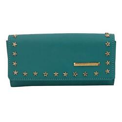 Berly Women Clutch (Turquoise) Multi-Functional Pocket Design