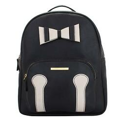 Zing Women'S Backpack (Black) Multi-Functional Pocket Design