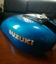Suzuki First 1st Tank Gs400 Motorcycle Parts Rare Collectible Blue Japan F/s