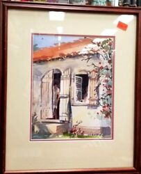 Judi Wagner Behind The Shutters Watercolor Painting