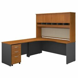 Bush Business Furniture Series C Left Hand Corner Desk With Hutch And Mobile ...