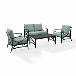 Crosley Kaplan 4 Piece Patio Sofa Set In Oil Rubbed Bronze And Mist