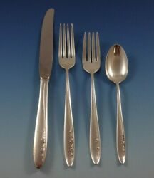 Spring Serenade By Lunt Sterling Silver Flatware Service For 8 Set 38 Pieces