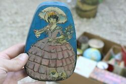 Vintage Horner Tin Box Dainty Dinah With Lady