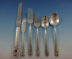 Spring Glory By International Sterling Silver Flatware Service 8 Set 57 Pieces