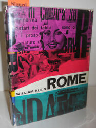William Photography Klein / Rome Inscribed Copy Signed 1st Edition 1959