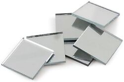 10 Mirror Tile Squares 2 X 2 Inch Square Shape Real Glass Craft Mirrors 507061