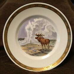 National Parks Of America Yellowstone Collector Plate Animals Nature