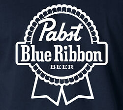 Pabst Blue Ribbon T-shirt Milwakee Beer Logo College Frat Drinks Party S-6xl Tee