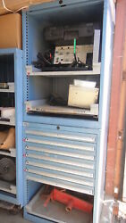 1G  LISTA 59 12'' 4 DRAWER TOOL BOX ROLL AWAY PARTS CABINET TOOLING SHIP $400.