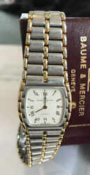 Baume And Mercier Ladies Vintage Stainless Steel And Rose Gold Watch