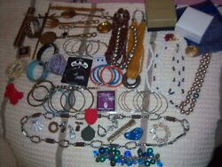 Lot Of Assorted Estate Sale Treasures / Jewelry Necklaces Pendants Pins + Fs