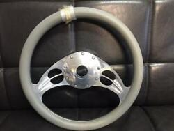 Lecarra Steering Wheels Billet X Gray Leather Very Rare American Car From Japan