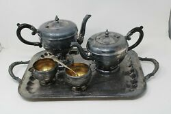 Vintage Viking Plate E.p. Copper Silver Made In Canada Tea Service Free Shipping