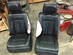 15-17 Ford Expedition Platinum Black Leather Front/rear Seats W/console 3rd Row
