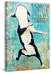 'Boston Terrier' by Stephanie Gerace Painting Print on Wrapped Canvas