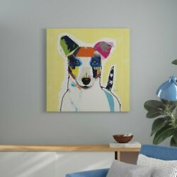 Ebern Designs 'Jack Russell Terrier - Square' Print