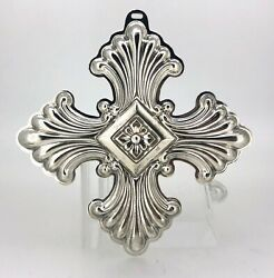 Reed And Barton Sterling Silver 1973 Christmas Cross