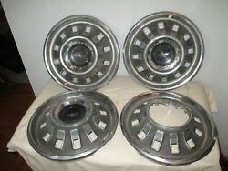 Vintage 1967 Chevrolet 14 Hub Cap Chevy Wheel Cover Bow-tie Emblem - Set Of 4