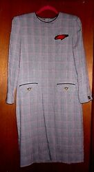 WOMEN'S LESLIE FAY COLLECTIONS PLAID DRESS - SIZE 8
