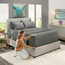 6 Piece 1800 Count Bed Sheet Set Extra Deep Pocket Sheets 36 Colors Available