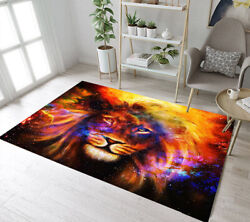 Colored Starry Sky Lion Yoga Carpet Bedroom Floor Mat Living Room Home Area Rugs